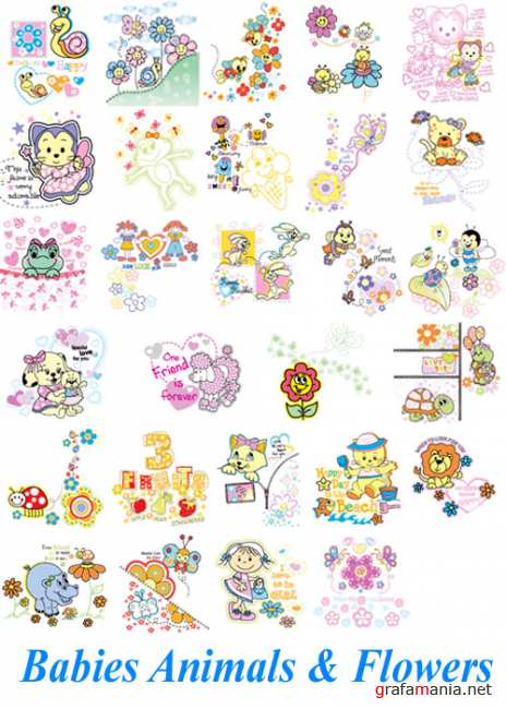 Babies Animals & Flowers