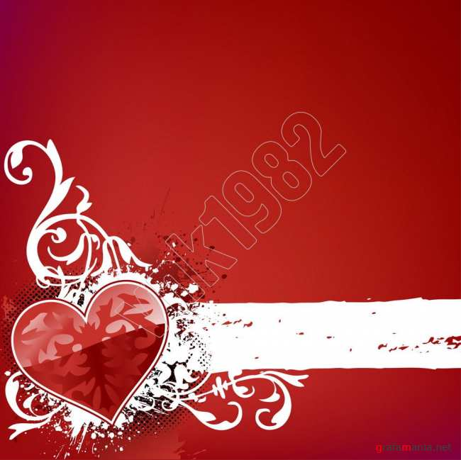 Heart background on red | ������ �� ������� ����
