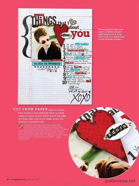 ScrapBooks Etc  - February 2011 | Скрапбукинг - Февраль 2011