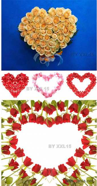 Stock Photo - Flower Hearts
