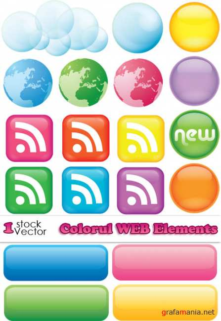 Colorful WEB Elements Vector
