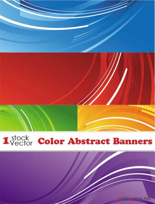 Color Abstract Banners Vector