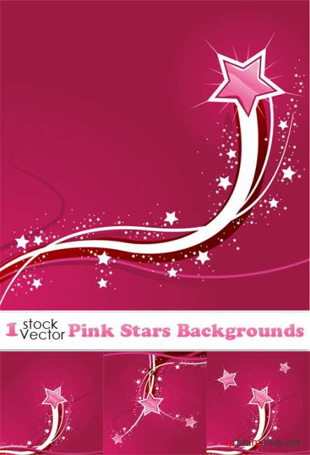 Pink Stars Backgrounds Vector