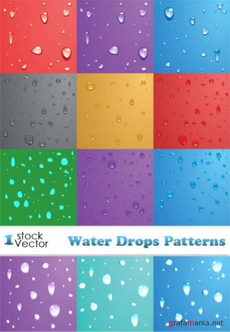 Water Drops Patterns Vector