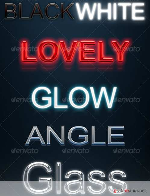 GraphicRiver - 7 Text Layer Styles