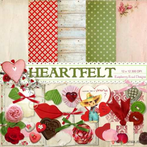 5 Композиций в png от Raspberry Road Designs - Heartfelt Clusters