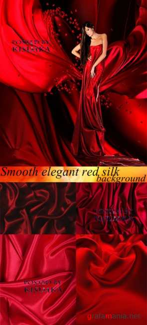 ������� ����. ���  Stock Photo: Smooth elegant red silk background
