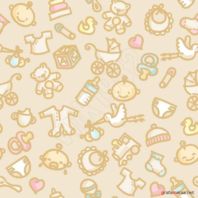 Seamless pattern baby | Детский фон