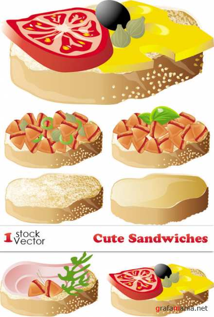 Cute Sandwiches Vector
