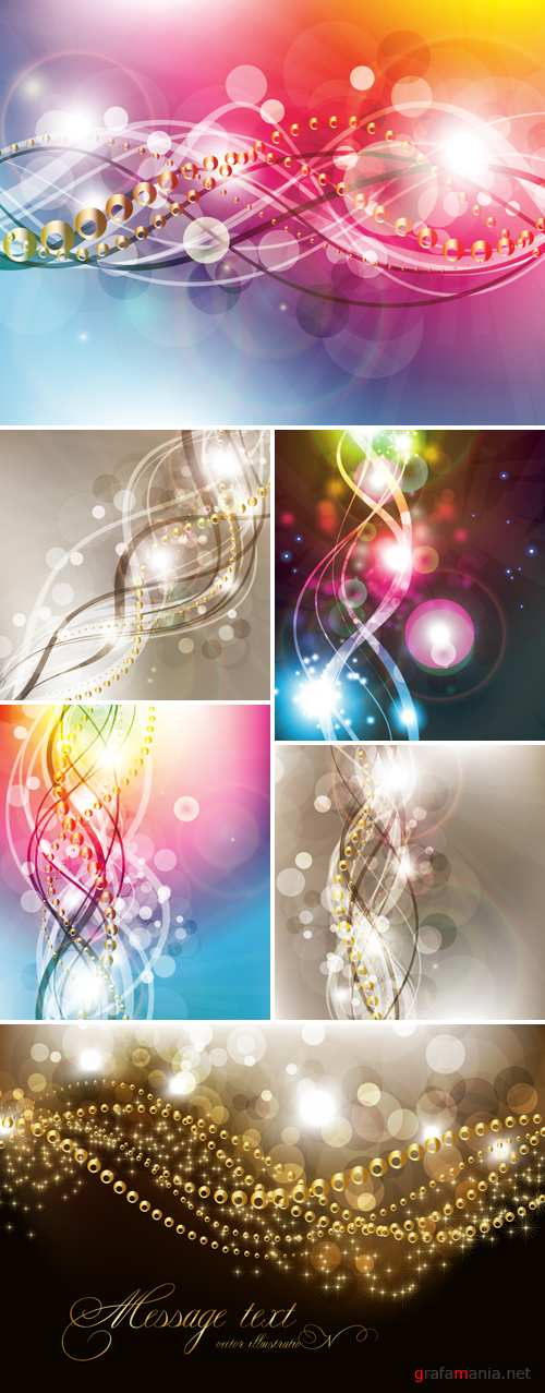 Elegant Abstract Backgrounds Vector