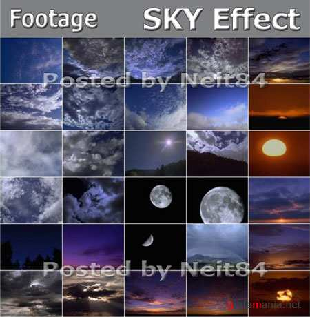 Footage Nature Sky Effects Animation NTSC