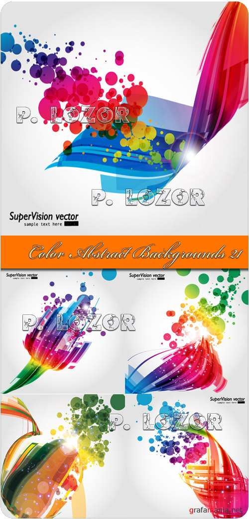 Color Abstract Backgrounds 21 - Stock Vectors