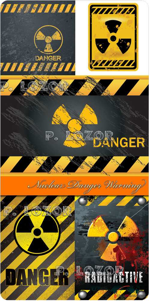 Nuclear Danger Warning - Stock Vectors
