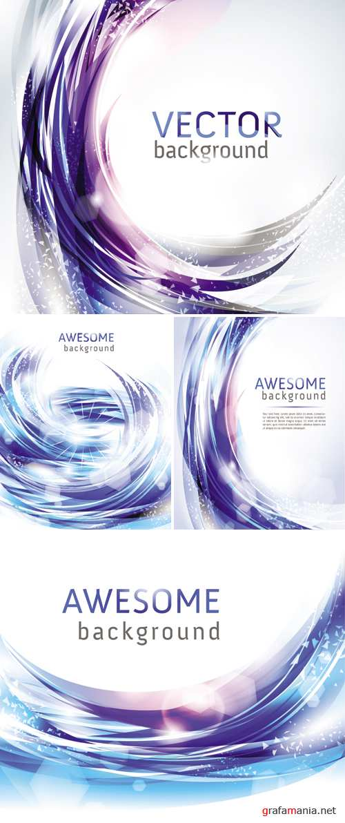 Blue Awesome Backgrounds Vector