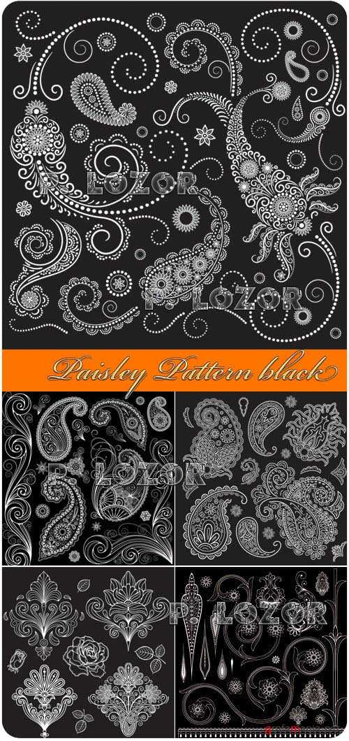 Paisley Pattern black and white