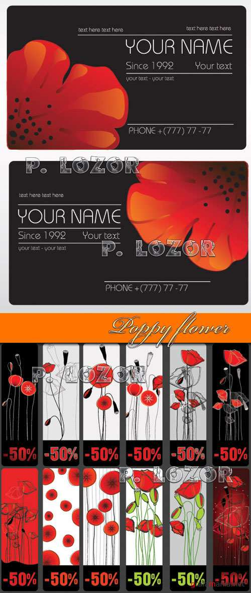 Poppy flower - Stock Vectors