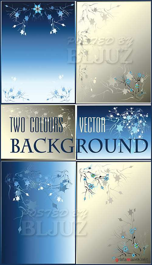Two Colours Vector Background