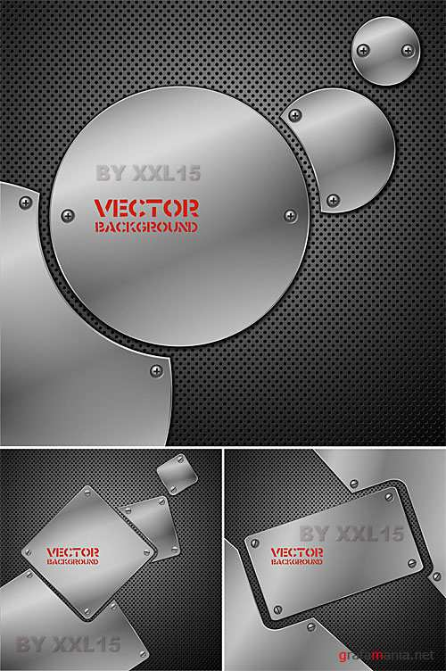 Metal vector backgrounds