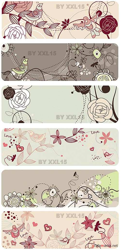 Cute floral banners