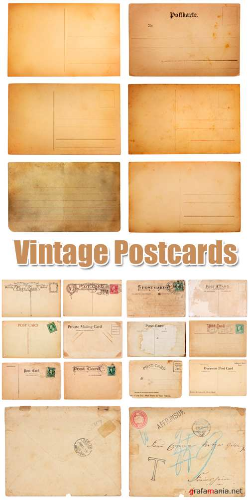 Stock Photo - Vintage Postcards