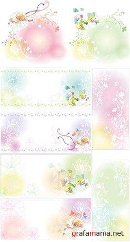 Tenderness floral backgrounds