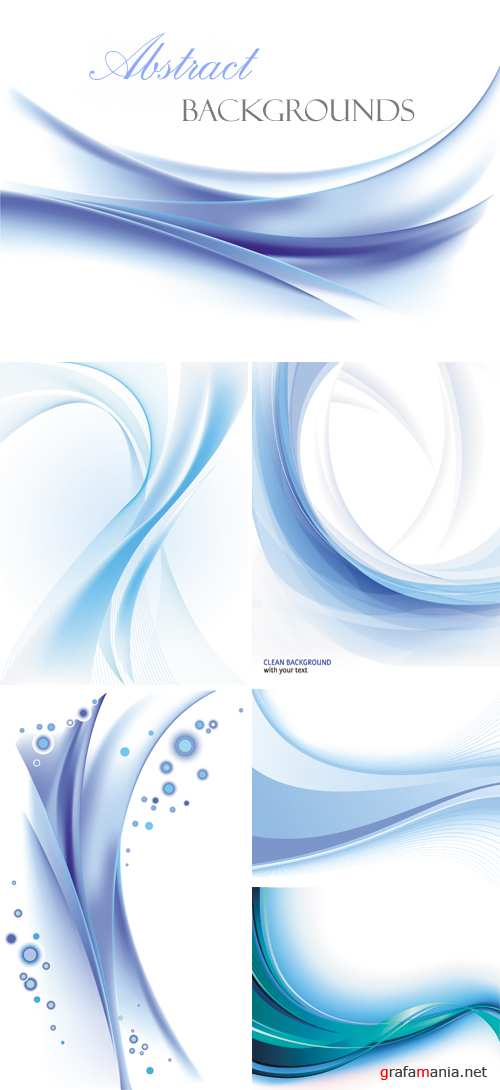 Blue Abstract Backgrounds Vector 2