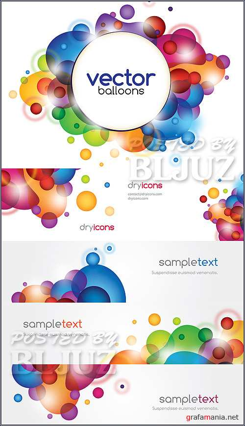 Vector Balloons Card
