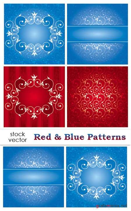 Red & Blue Patterns