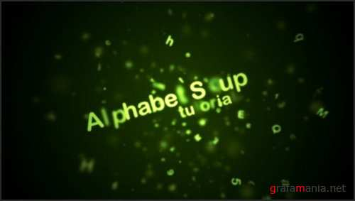 After Effects Project - Alphabet Soup (Fake Text Particles)