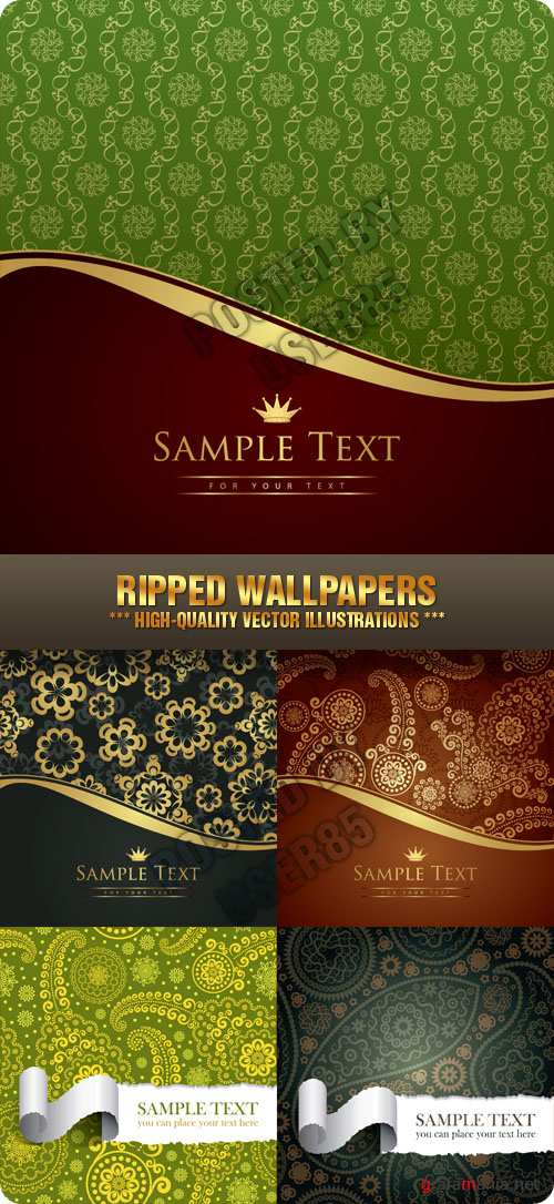 Stock Vector - Ripped Wallpapers