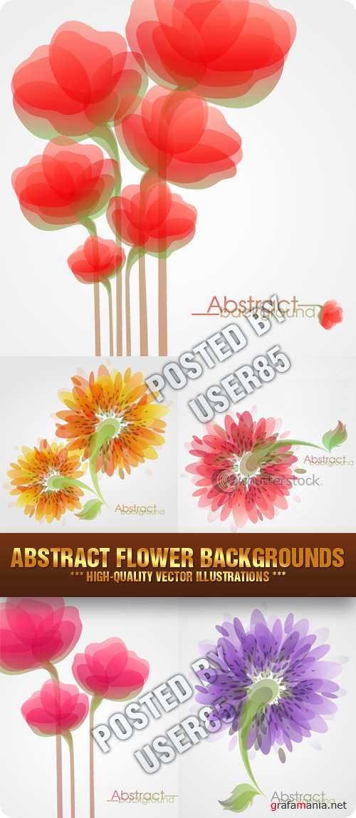 Stock Vector - Abstract Flower Backgrounds