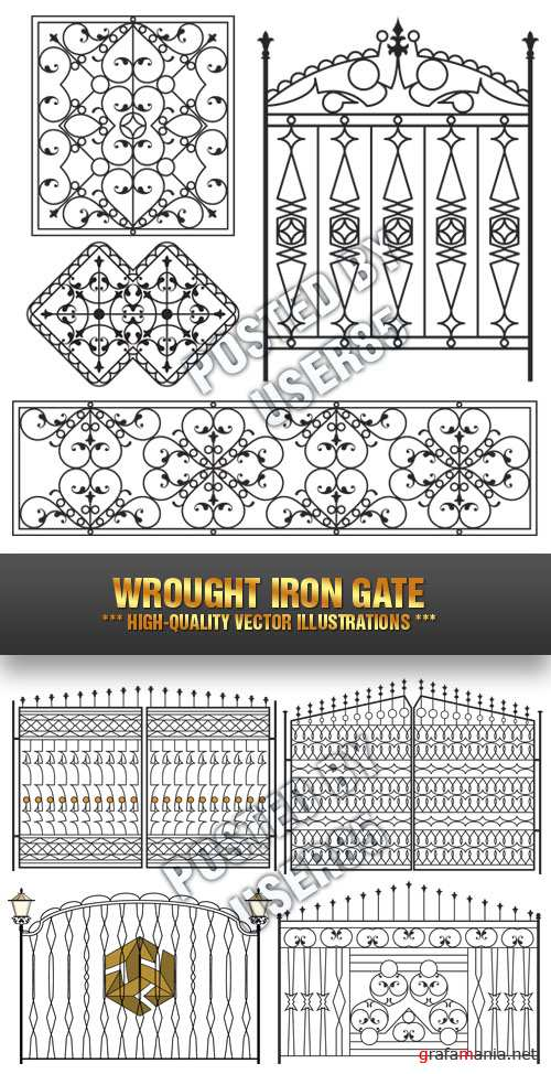 Stock Vector - Wrought Iron Gate