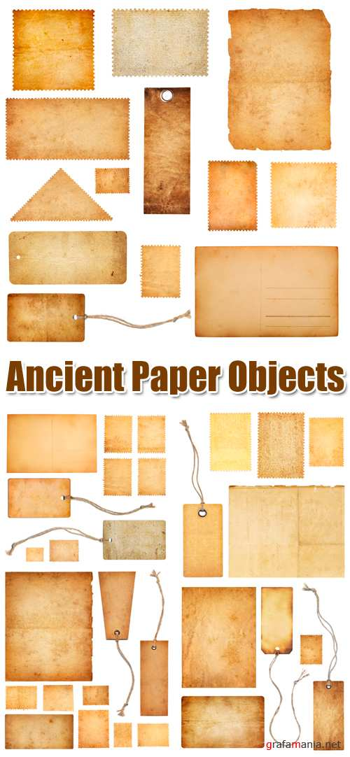 Stock Photo - Ancient Paper Objects