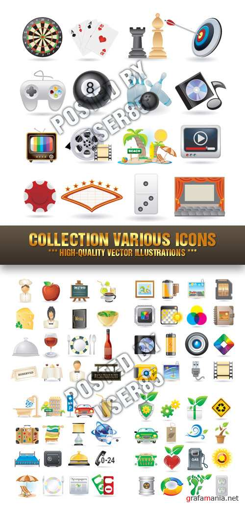Stock Vector - Collection Various Icons