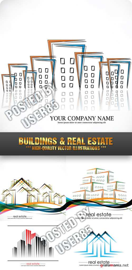 Stock Vector - Buildings & Real Estate