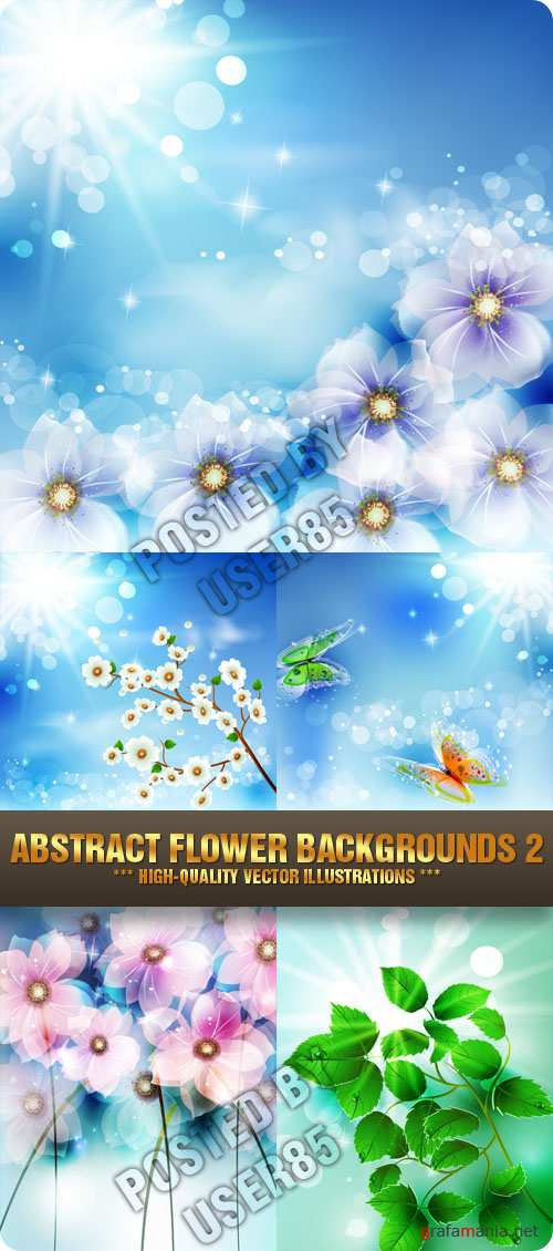 Stock Vector - Abstract Flower Backgrounds 2