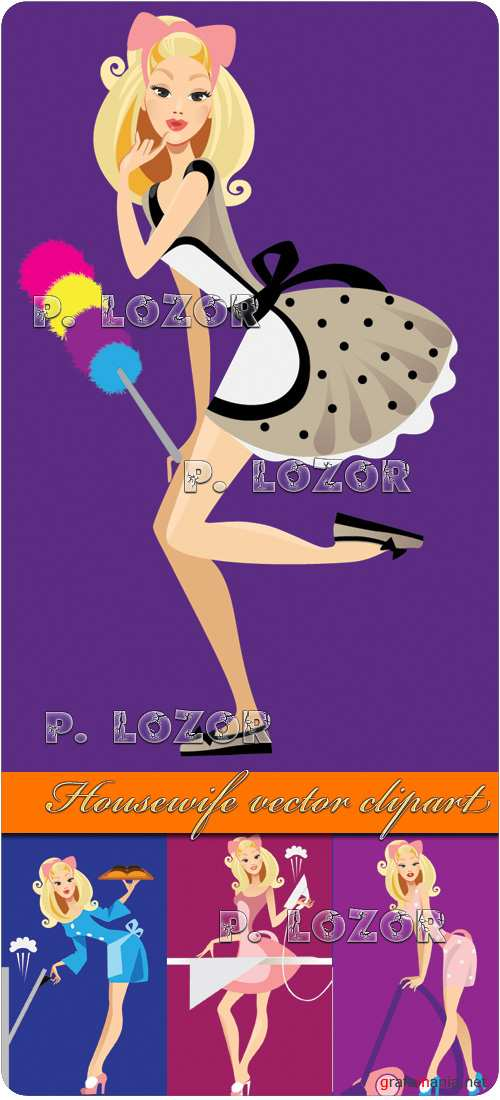 Housewife vector clipart