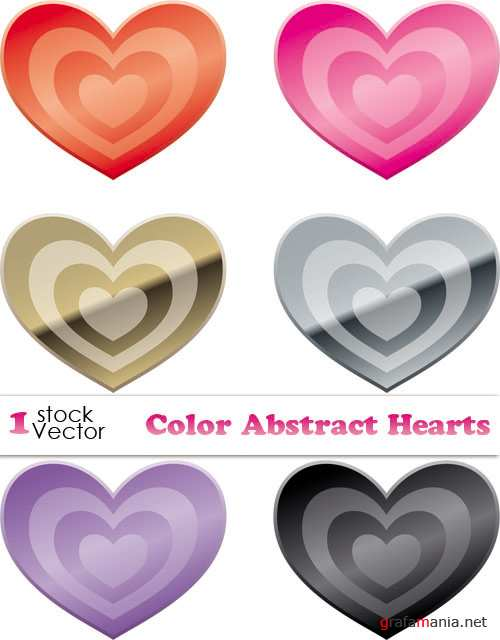 Color Abstract Hearts Vector