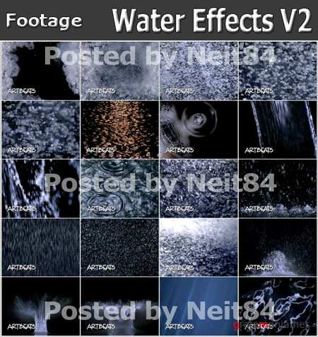 Footage Effects Water Drop V2