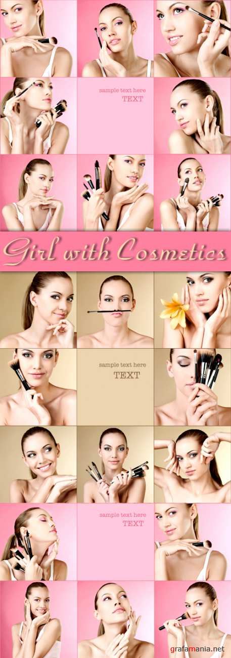 Stock Photo - Girl with Cosmetics