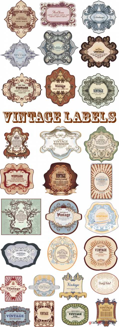 Vintage Labels Vector 2