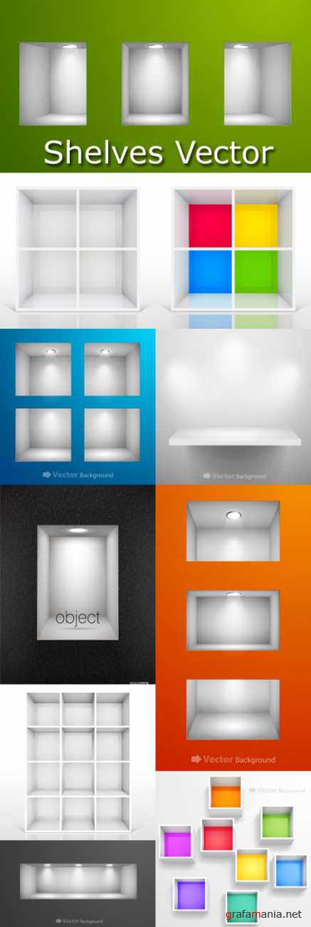 Shelves Vector Pack