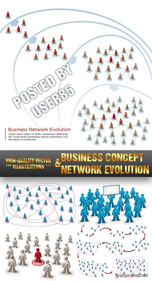 Stock Vector - Business Concept & Network Evolution