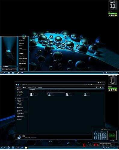 3D Blue Sand Theme for Windows 7