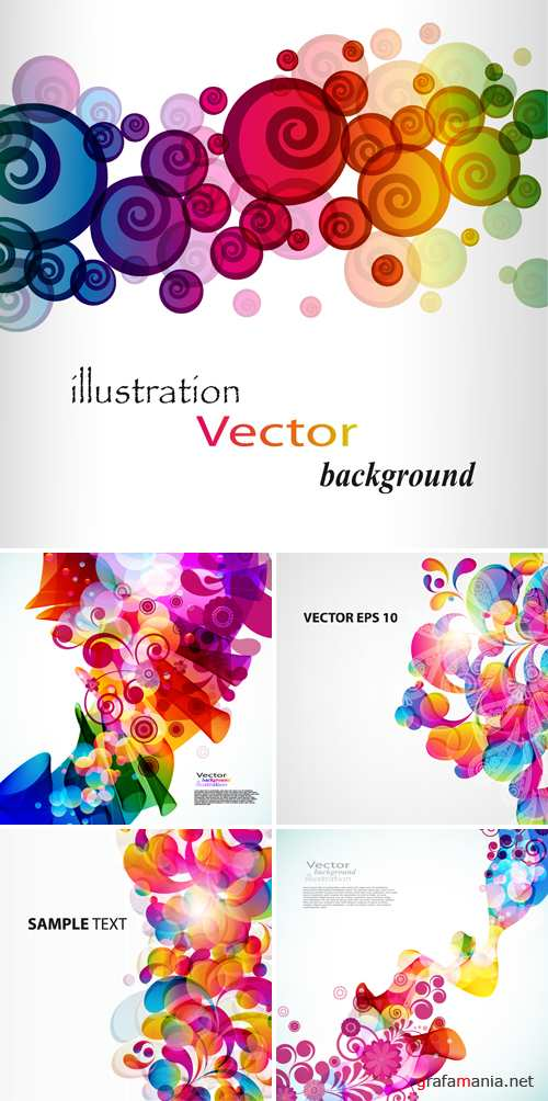 Colorful Floral Backgrounds Vector