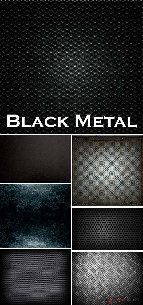 Stock Photo - Black Metal Backgrounds