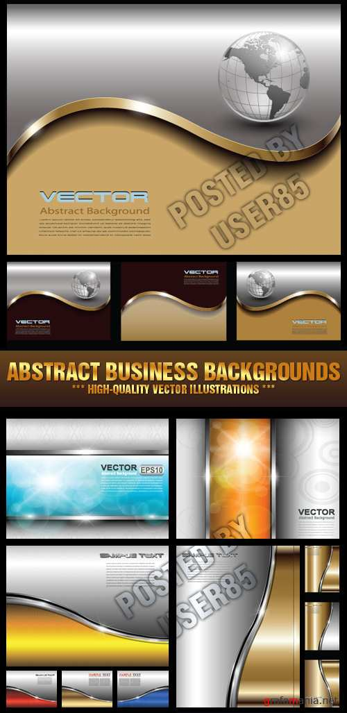 Stock Vector - Abstract Business Backgrounds