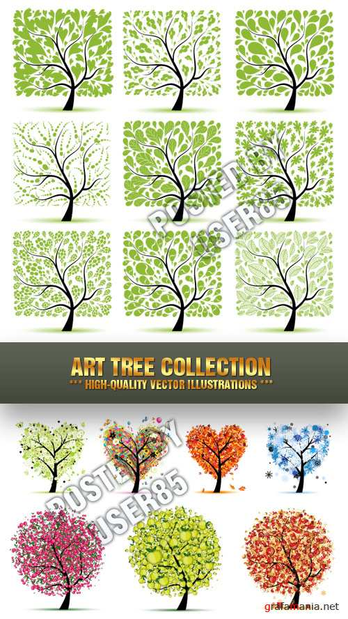 Stock Vector - Art Tree Collection