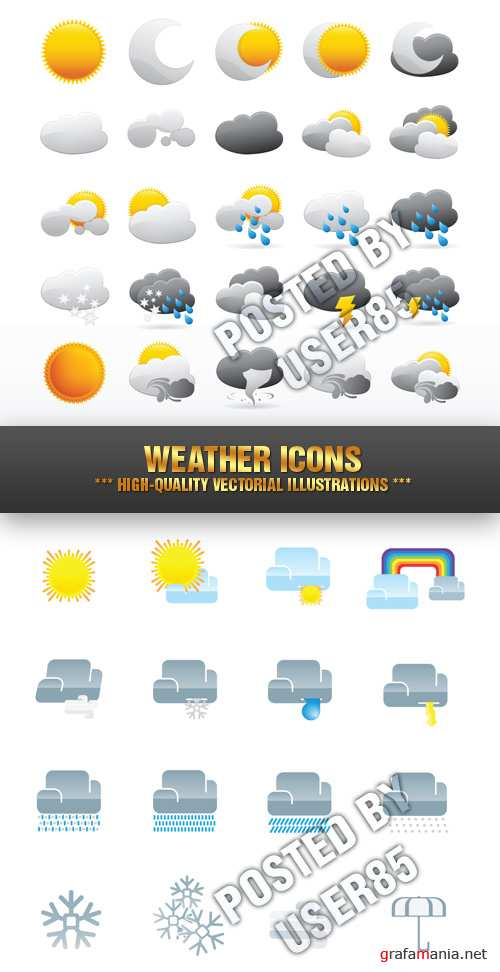 Stock Vector - Weather Icons