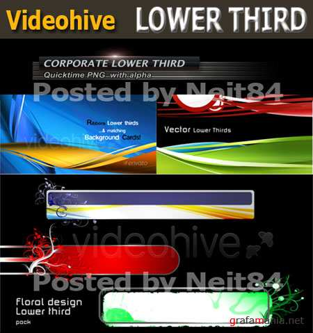 Footage motion all in one Lower third Pack 10
